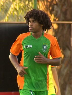 William Bárbio, atacante do América-MG (Foto: Reprodução / TV Globo Minas)