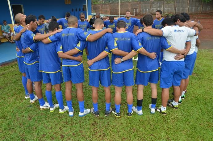 Jogadores do Costa Rica-MS iniciaram pré-temporada no último fim de semana (Foto: Kayron Rodrigues/PMCR)