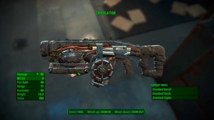 Saiba como conseguir a arma Cryolator em Fallout 4 (Reprodução/Tais Carvalho)