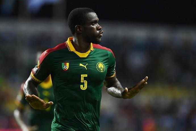Ngadeu, Camarões x Guiné-Bissau (Foto: GABRIEL BOUYS / AFP)