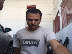 Igor Alexandre , suspeito de articular sequestro (Foto: Tássio Andrade/G1)