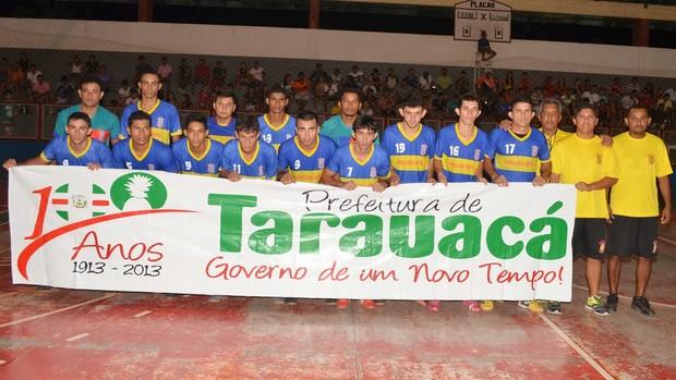 Verona, time de futsal de Tarauacá, interior do Acre (Foto: Jardy Lopes/Arquivo Pessoal)