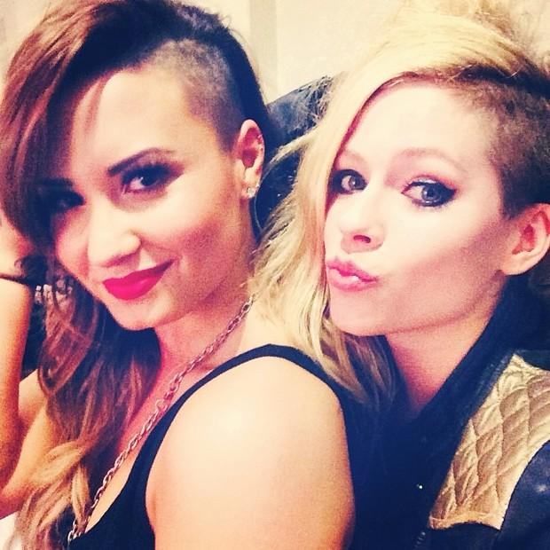 Demi Lovato e Avril Lavigne (Foto: Reprodução/Instagram)