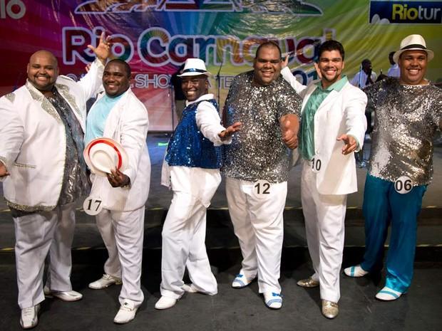Seis homens disputam a coroa de Rei Momo do Carnaval 2013 (Foto: Fernando Maia/ Riotur)