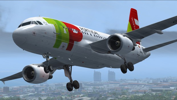 Voo comercial da companhia aérea portuguesa TAP (Foto: Reprodução/Facebook)
