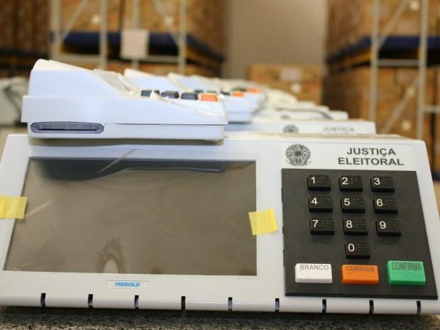 Urna biométrica promove maior segurança no processo eleitoral, segundo TRE. (Foto: Assessoria / TRE-MT)