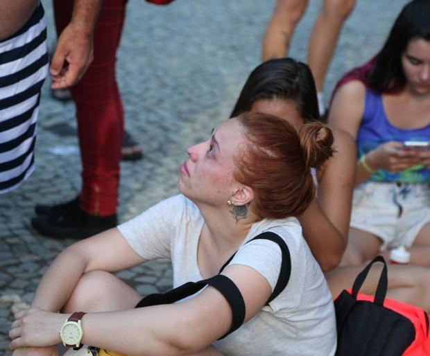 Fãs de Lady Gaga choram cancelamento de show no RiR (Foto: ANDRÉ FREITAS/ AGNEWS)
