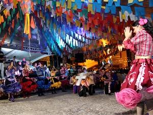 Festa de São João do Conde acontece nas comunidades rurais e mantém clima familiar de festa no interior. (Foto: Stanley Talião / Setur Conde)