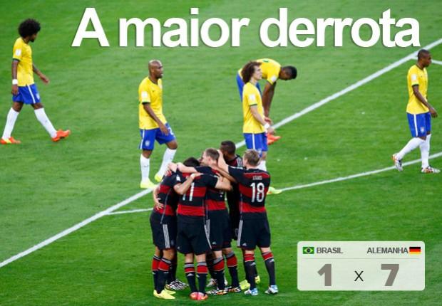 Brasil sofre sua maior goleada em Copas (Reuters)