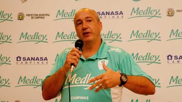 Marcos Pacheco é o novo técnico do Campinas (Foto: Divulgação Medley/Campinas)