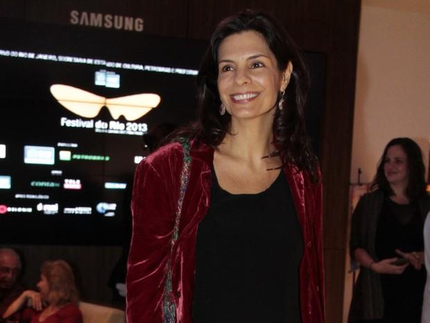 Helena Ranaldi em pré-estreia no Rio (Foto: Isac Luz/ EGO)
