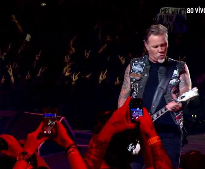 Metallica no Palco Mundo (Foto: Gshow)