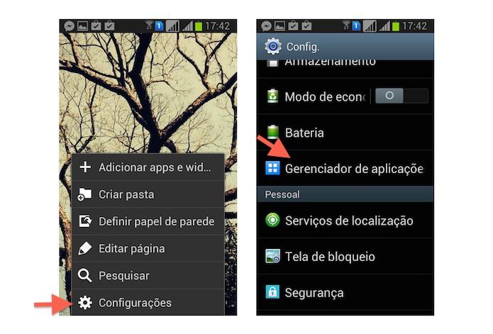 Acessando as configurações do Android para desinstalar o Mobogenie (Foto: Reprodução/Marvin Costa)