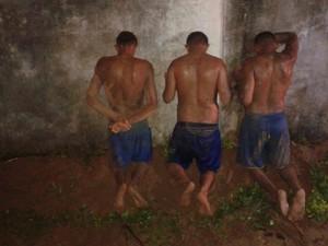 Três detentos foram recapturados  (Foto: Divulgação/Força Nacional)