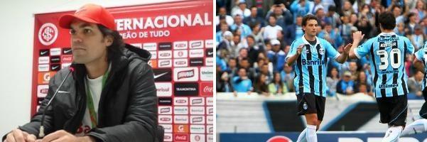 Inter e Grêmio são as atrações do Globo Esporte RS (Foto: Montagem sobre fotos/ Tomas Hammes, globoesporte.com/Lucas Uebel, Grêmio DVG)