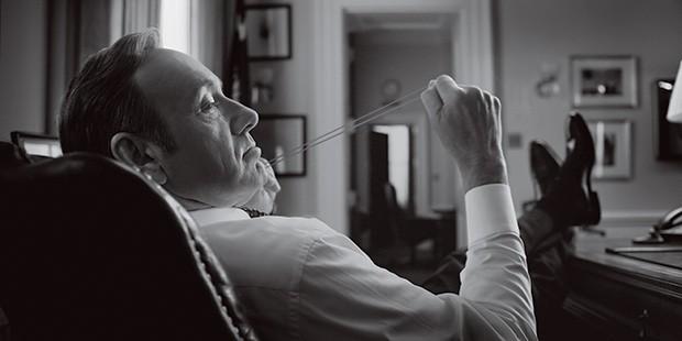 O ANTI-HERÓI Kevin Spacey como Frank Underwood. Na terceira temporada, ele é um homem em conflito (Foto: Media Rights Capital/The Kobal Collection)