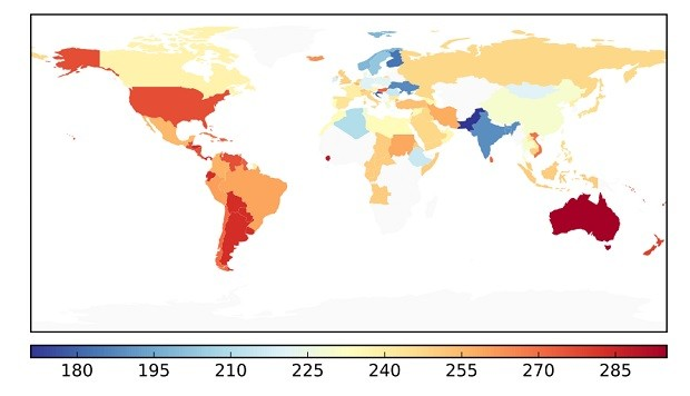 Diversidade de ingredientes nas cozinhas de cada país