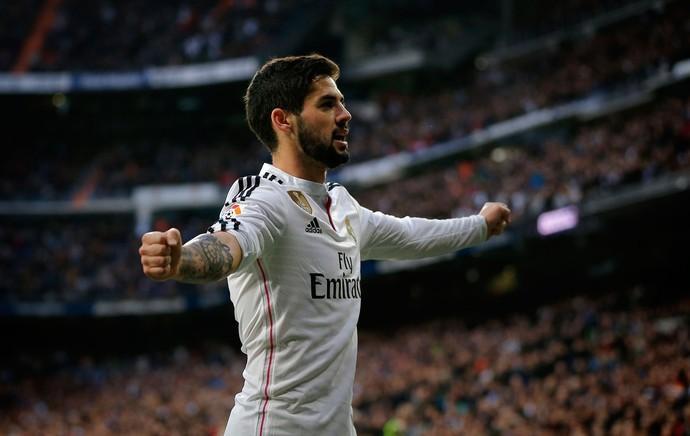 Isco, gol Real Madrid x La Coruña (Foto: AP)