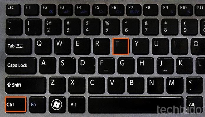 Atalho CTRL + T no teclado (Foto: Barbara Mannara/TechTudo)