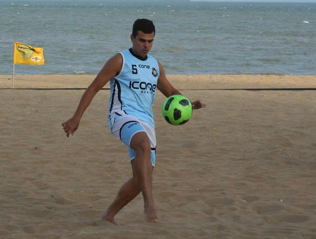 Diogo Malias, futebol de areia do Rio Branco-ES (Foto:  Pauta Livre/Divulgação)