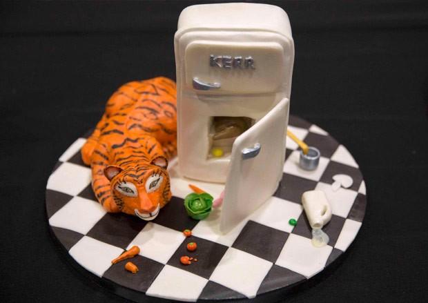 Bolo foi inspirado na história 'O Tigre Que Veio Tomar Chá' (Foto: Neil Hall/Reuters)