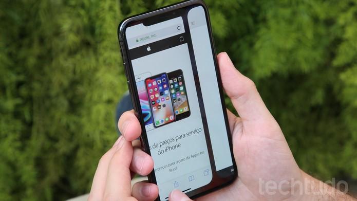 iPhone X na redação (Foto: Luciana Maline/TechTudo)