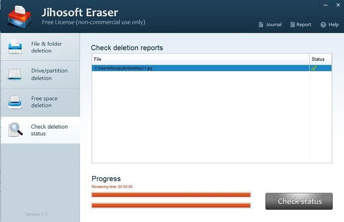 Interface de verificação de status (Foto: Reprodução/Marcela Vaz)