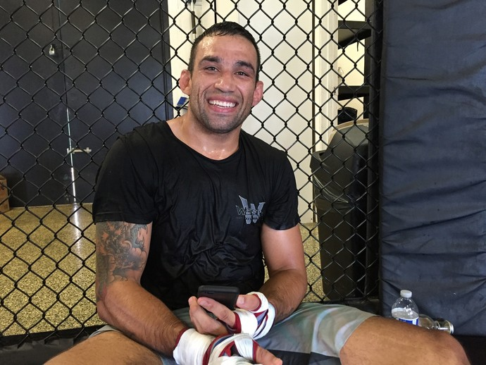 Fabricio Werdum; treino; Los Angeles (Foto: Evelyn Rodrigues)