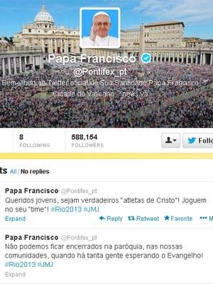 O Twitter do Papa (Foto: Reprodução da internet)