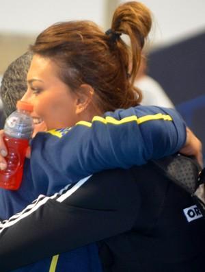 Zé Roberto Katarzyna Skowronska treino brasil polônia (Foto: Murilo Borges)