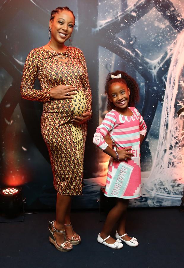 Negra Li e a filha, Sofia (Foto: Manuela Scarpa/Brazil News)