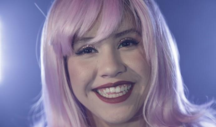Vitória ganhou um clipe inspirado na sua musa Katy Perry  (Foto: Reprodução / TV Diário )