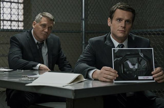 Holt McCallany e Jonathan Groff em 'Mindhunter' (Foto: Patrick Harbron/Netflix)