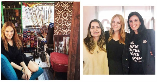 Lá atrás, em 2016, no trailer da Lush em Londres. Foi quando conheci a história da marca. No outro clique, eu entre Pati Lima, fundadora da Simple Organic, e Karina Meyer, diretora da The Body Shop Brasil, depois de um talk sobre beleza vegana no nosso Glamour Beauty Festival (Foto: Divulgação)