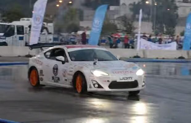 Alemão bate record de drift com seu Toyota GT 86 2012 (Foto  Reprodução) 199fda1330
