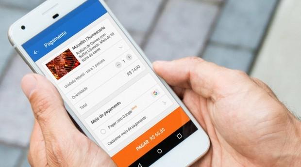 Nova função do Google que permite o pagamento de produtos e serviços online através de cartões cadastrados na sua conta Google (Foto: Google)