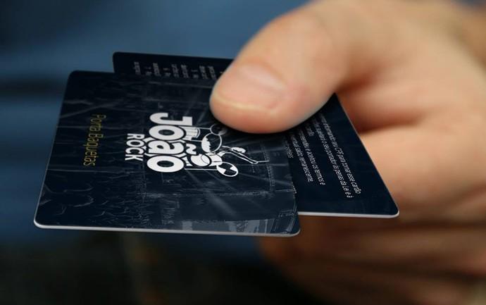 Porta baquetas é o cartão para carregar a moeda oficial do João Rock (Foto: Divulgação)