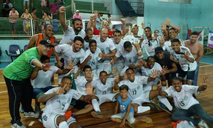 O Jardim Limoeiro foi campeão capixaba de futsal (Foto: Richard Pinheiro/GloboEsporte.com)