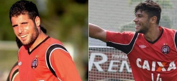 Fran Mérida e Ciro, do Atlético-PR (Foto: Site oficial de Atlético-PR/Divulgação)