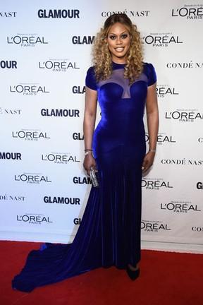 Laverne Cox em premiação em Nova York, nos Estados Unidos (Foto: Dimitrios Kambouris/ Getty Images/ AFP)