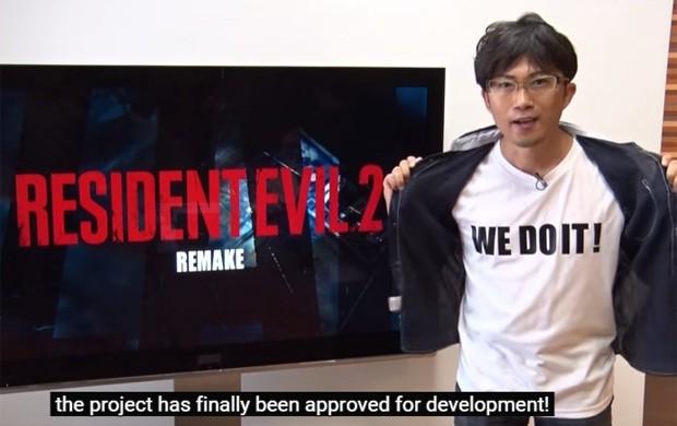 Diretor do remaster de 'Resident Evil 2' confirma projeto em vídeo publicado pela Capcom (Foto: Reprodução/YouTube)