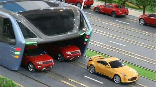 Ônibus da China (Foto: BBC)