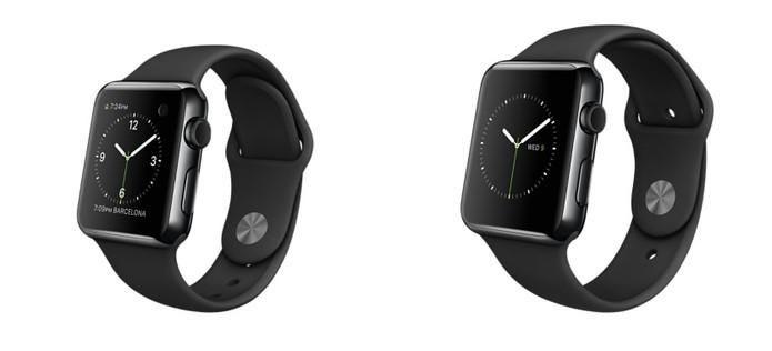 82946a11f85 Opção com pulseira e case na cor preto (Foto  Divulgação Apple)