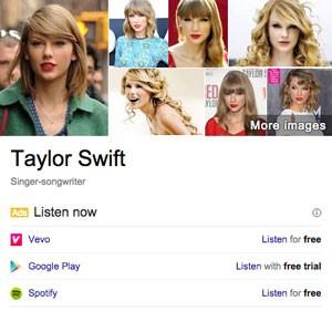 Google testa nos EUA exibição de cartelas que mostram fontes legítimas de músicas e filmes, para coibir a pirataria. (Foto: Divulgação/Google)