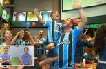 Torcedores comemoram a vitória da Recopa pelo Grêmio