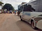 Moradores protestam para que fluxo de veículos pesados diminua em MS