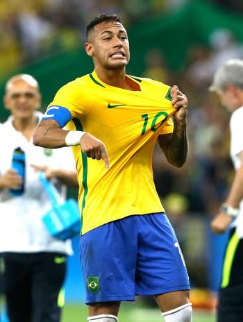 Neymar Brasil X Alemanha Final (Foto: Agência AP)