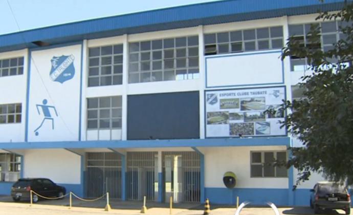 Sede social do Esporte Clube Taubaté (Foto: Reprodução/ TV Vanguarda)