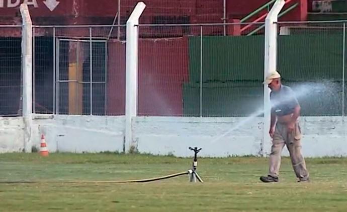 Aldo Dapuzzo estádio Rio Grande (Foto: Reprodução/RBS TV)