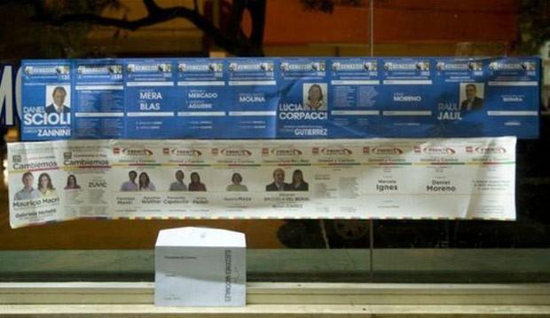 Eleições primárias na Argentina têm cédulas de votação de 1,2 metro (Foto: Reprodução/Twitter)